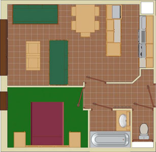 2-5 Person Apartment Plan