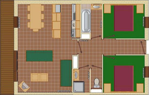 4-6 Person Apartment Plan