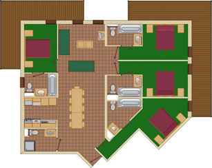 8-11 Person Apartment Plan